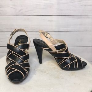 Cole Haan Black & Leather High Heeled Sandals, 7.5